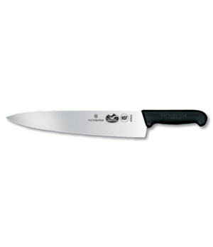 "Chef's Knife, 12"", 2-1/4"" width at handle, black Fibrox-« nylon handle, slip res"