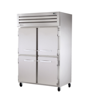 SPEC SERIES® Freezer, Reach-in, -10° F, two-section, stainless steel front/sides