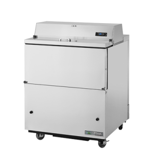 Mobile Milk Cooler, FORCED-AIR, (8) crates, stainless steel drop front/hold-open