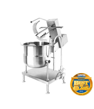 Kettle/Mixer, Direct, Sweep/Fold Agitator, 20-gallon capacity, 2/3 steam jacket
