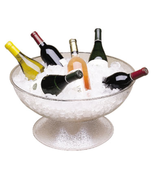 "Camwear® Pedestal Punch Bowl, pebbled, 23"" dia., approximately capacity 40.0 qt."