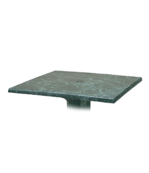 "Indoor/Outdoor Table Top, 32"" square, with umbrella hole, burn, stain, heat & sc"