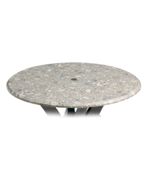 "Indoor/Outdoor Table Top, 42"" round, with umbrella hole, burn, stain, heat & scr"