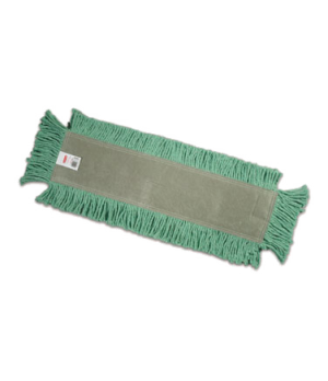 "Disposable Dust Mop, 24"" L x 5"" W, cut-end, full-tie backing, white"