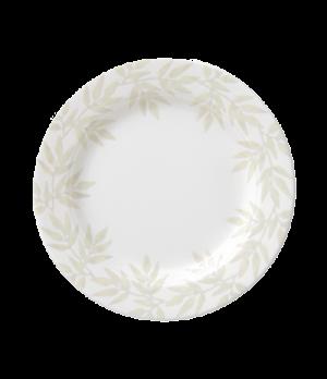 "Plate, 6-1/4"" (16cm) diameter, round, flat, salamander/microwave/dishwasher safe"