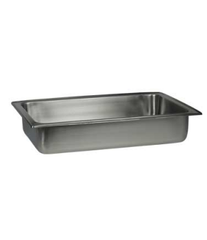 "Food Pan, 9 qt., 1/1, 2-1/2"" deep, for rectangular Canyon chafer, stainless stee"