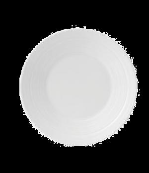 "Jasper Conran Strata Plate, 7"" dia., round, wide rim, embossed, dishwasher safe,"