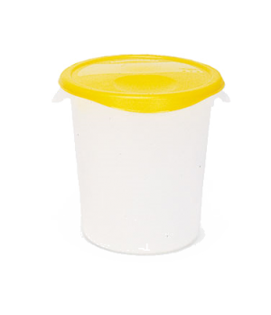 "Storage Container, round, 8 qt., 10"" x 10-5/8"", stackable, deep, easy-grip handl"