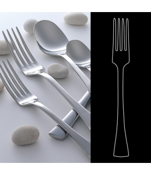 "Salad/Dessert Fork, 7-1/4"", 18/10 stainless steel, WNK, Eclipse (USA stock item)"