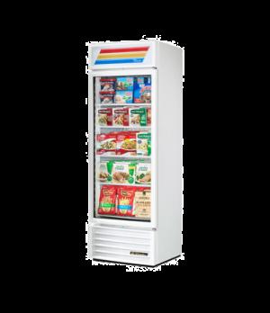 Freezer Merchandiser, one-section, (4) shelves, white exterior, trim, & interior