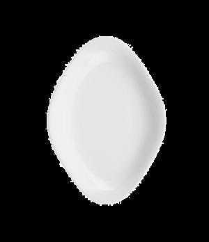 "Plate, 14-1/8"" x 9-7/8"", oval, premium porcelain, Sedona"