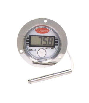 "Thermometer, electronic panel type, 2.97"" x 1.08"" (7.6 x 2.7cm), temperature ran"