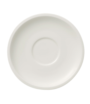 "Tea Cup Saucer, 6-1/4"" dia., round, white, premium porcelain, Artesano"
