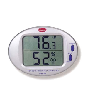 Min/Max Thermometer Hygrometer, 32° to 122°F/0° to 50°C temperature range, ±2°F