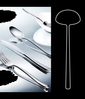 "Soup Ladle, 11"", stainless steel, La Tavola, Yuki (non-stock item) (minimum = ca"