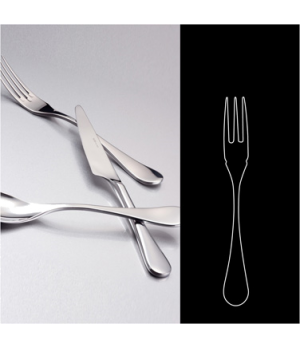 "Fish Fork, 7-1/2"", 18/10 stainless steel, WNK, Java (USA stock item) (minimum ="
