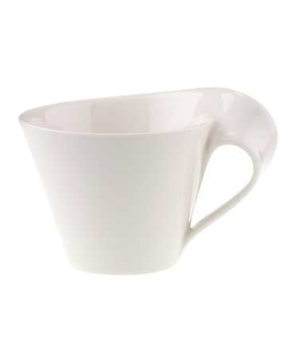 Caffe/Coffee Cup #0, 13 oz., white, premium porcelain, New Wave Caffe
