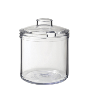 "Condiment Jar, 8 oz., 4""H, 3 1/4"" Dia., clear, polycarbonate"