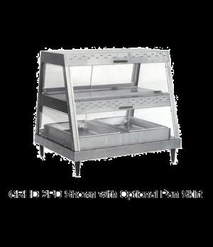 Glo-Ray® Heated Display Case, countertop, see-thru design, (2) pan dual shelf, 1