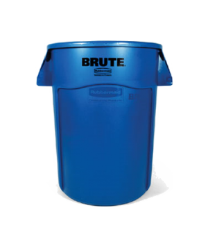 "BRUTE® Container, without lid, 44 gallon, 24""D x 31-1/2""H, reinforced rims, buil"