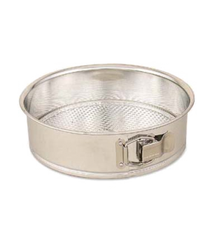 "Spring Form Cake Pan, 10"" dia. x 2-1/2"" deep, tin, polished finish"