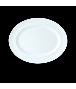 "Dish, 13"", oval, Distinction, Alvo, Alvo White (USA stock item) (minimum = case"