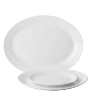 "Plate, 8-1/4"" (21 cm), oval, coupe, porcelain, microwave and dishwasher safe, ed"