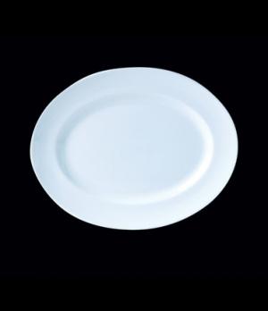 "Platter, 11"" x 8-3/4"", oval, Distinction, Vogue White (USA stock item) (minimum"