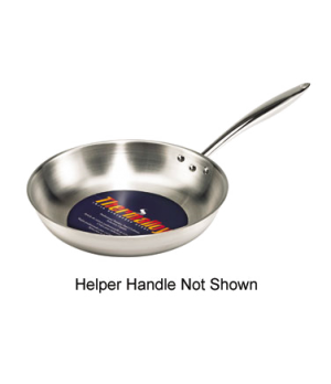 "Thermalloy® Fry Pan, 12-1/2"" dia. x 2"", induction capable, helper handle, stay"
