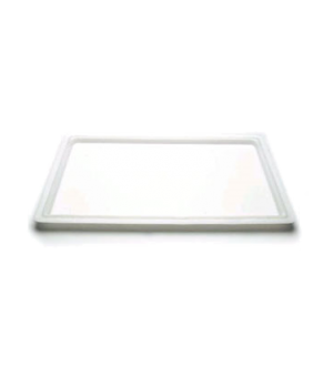 "Cover, food storage, flat, 18"" x 26"", natural white, polyethylene, NSF"
