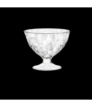 Dessert Dish, 8 oz., glass, Bormioli, Diamond (USA stock item) (minimum = case q