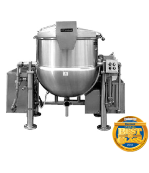 Horizontal Agitator Mixer Kettle, tilting design, 150 Gallon operating capacity,