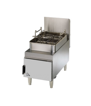 Star-Max® Heavy Duty Fryer, countertop, gas, twin baskets, 15 lb. fat capacity,