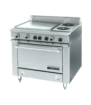 "36E Series Heavy Duty Range, electric, 36"" fry top section with thermostats, sto"