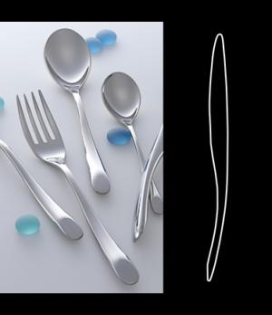 "Dessert Knife, 8"", standing, heavy solid handle, 18/10 stainless steel, WNK, Har"