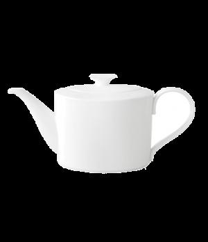 Teapot, 40-1/2 oz., with cover, premium bone porcelain, Modern Grace