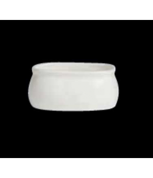 "Sugar Bowl, 6 oz., 4"" x 3"" X 1-3/4"", oval, porcelain, Varick Alpha-Ceram (USA st"