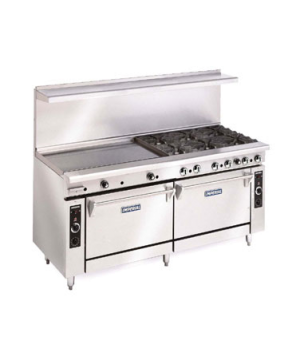 "Restaurant Range, gas, 72"", (4) open burners, (1) 48"" griddle, (2) convection ov"