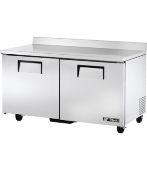 Work Top Freezer, two-section, -10° F, (4) shelves, stainless steel top with rea