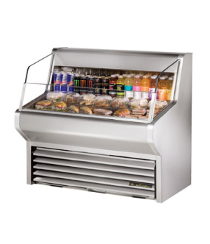 "Horizontal Air Curtain Merchandiser, 48""L, 43-3/8""H, stainless steel exterior &"