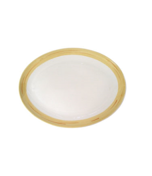 "Platter, 12"" (30 cm), oval, coupe, scratch resistant, oven & microwave safe, dis"