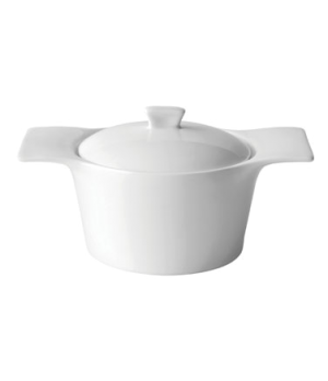 Casserole Dish, 12-1/2 oz. (350ml), round, individual, handled, with lid, porcel