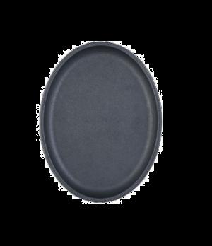 "Thermalloy® Pan, 10"" x 3/4"", oval, preseasoned, ergonomic handle with thumb res"