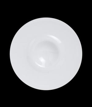 "Plateau Plate, 6-5/8"" dia (1-9/16"" rim), round, deep, porcelain, Crucial Detail"