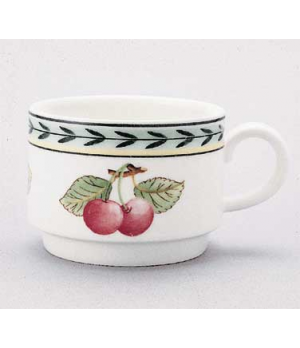 Cup #4, 6 oz., stackable, premium porcelain, French Garden-Dampierre (Special Or