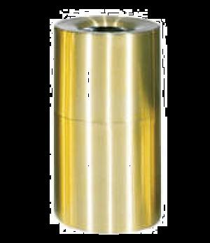 "Designer Line Aluminum Waste Receptacle, 21 gallon, 18"" dia. x 32"" H, open top,"