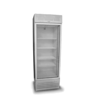 Upright Cooler, reach-in display, one-section, standard depth, hinged glass door