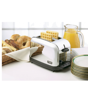 "Commercial Toaster, (2) extra wide 1-3/8"" extra long slots, (2) slice capacity,"