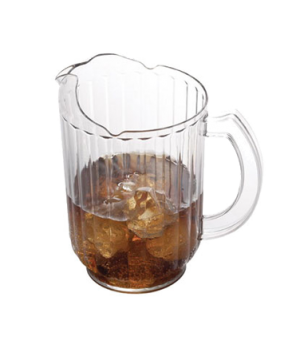 "Camwear® Pitcher, 60 oz., 7-7/8""H x 7-3/8""D, ice-control countered lip, pouring"