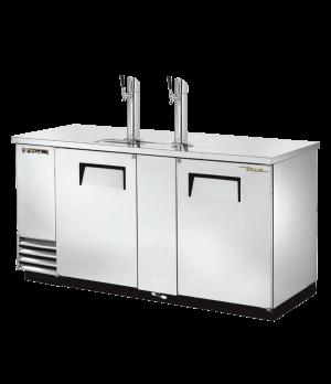 Draft Beer Cooler, (3) keg capacity, stainless steel counter top, stainless stee